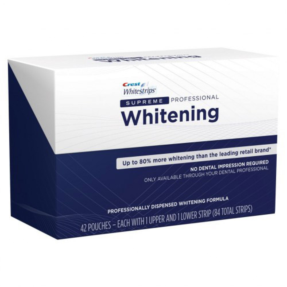 Отбеливающие полоски для зубов Crest Whitestrips Supreme Professional