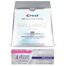 CREST 3D WHITESTRIPS BRILLIANCE WHITE + Паста