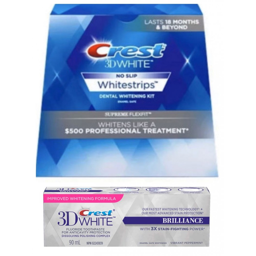 Crest Whitestrips Supreme Flexfit + Паста