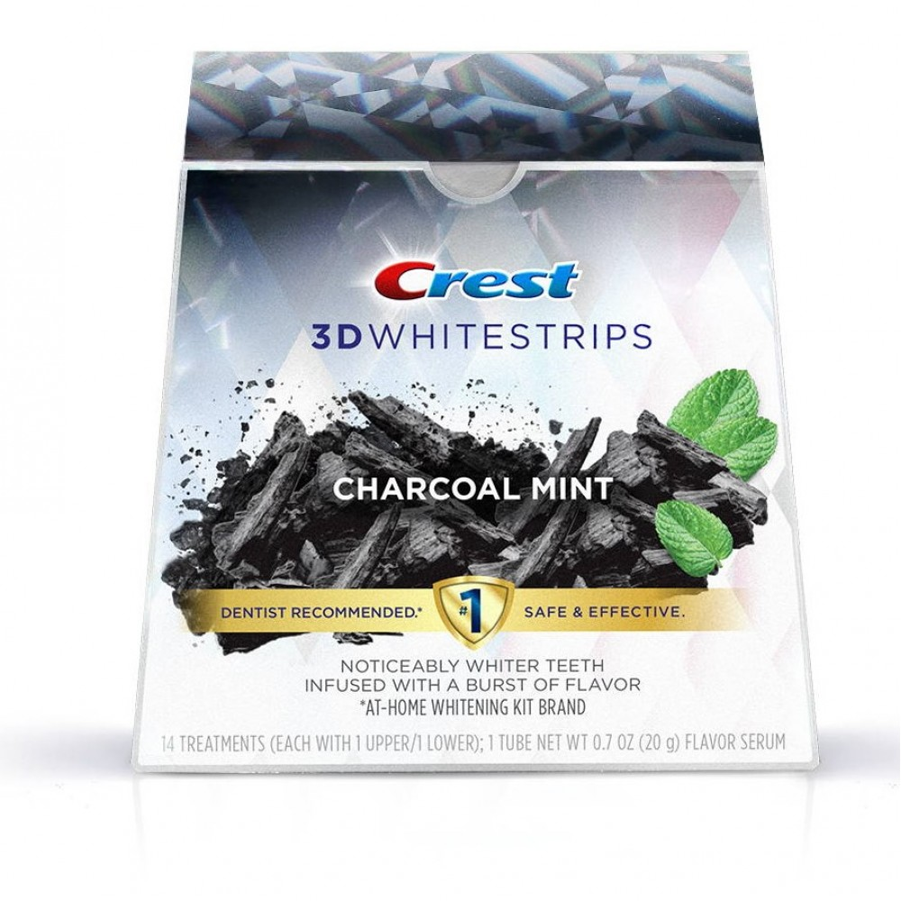 Crest 3D Whitestrips Charcoal Mint