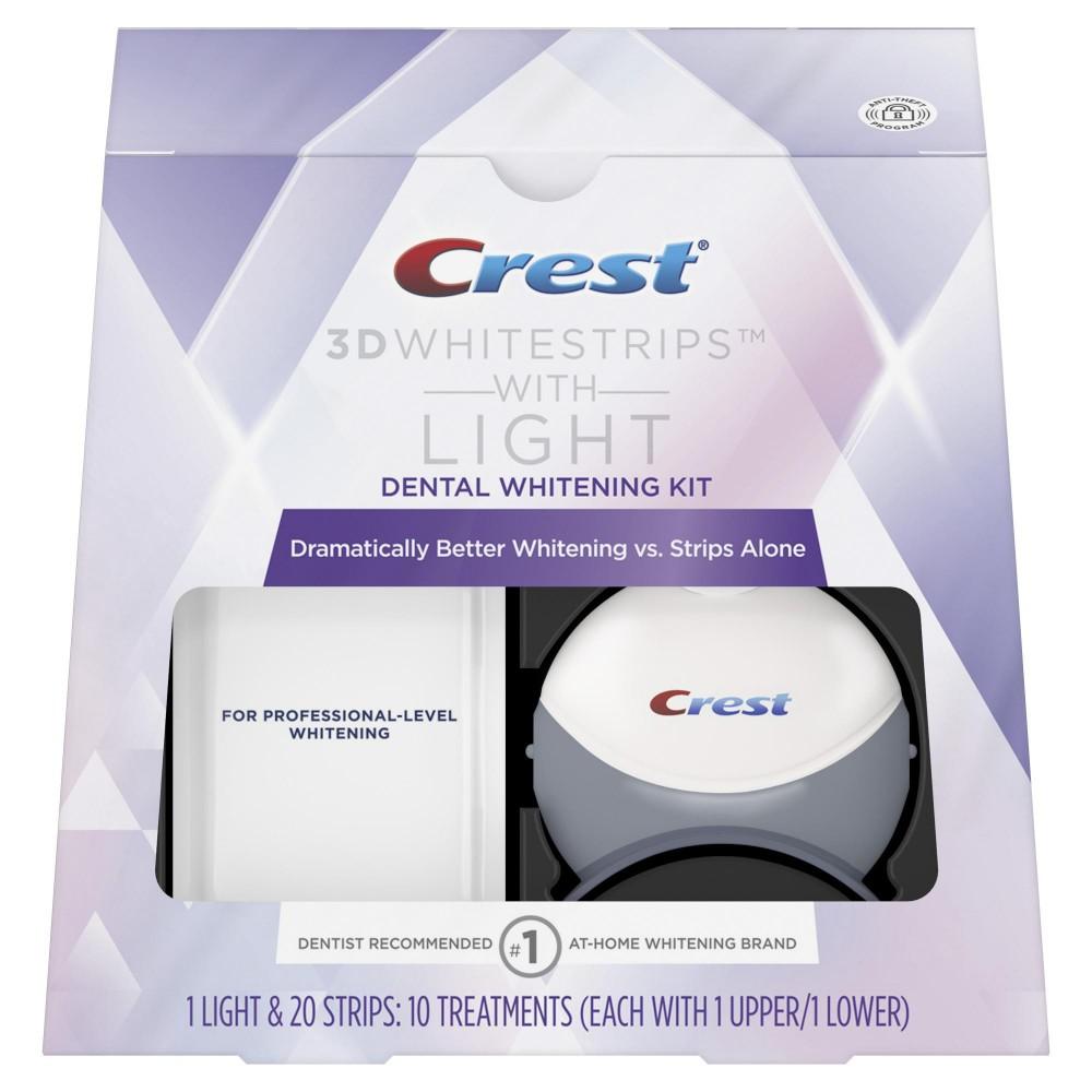 Комплекс Crest Whitestrips White Light (10 days) - отбеливающие полоски с системой синего света