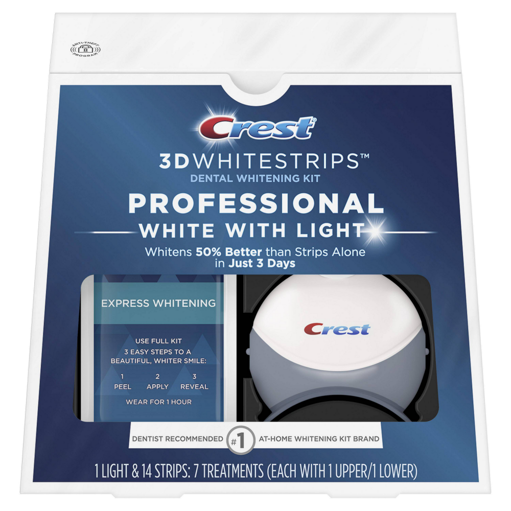 Комплекс Crest 3D Whitestrips Professional White With Light (7 days) - отбеливающие полоски с системой синего света