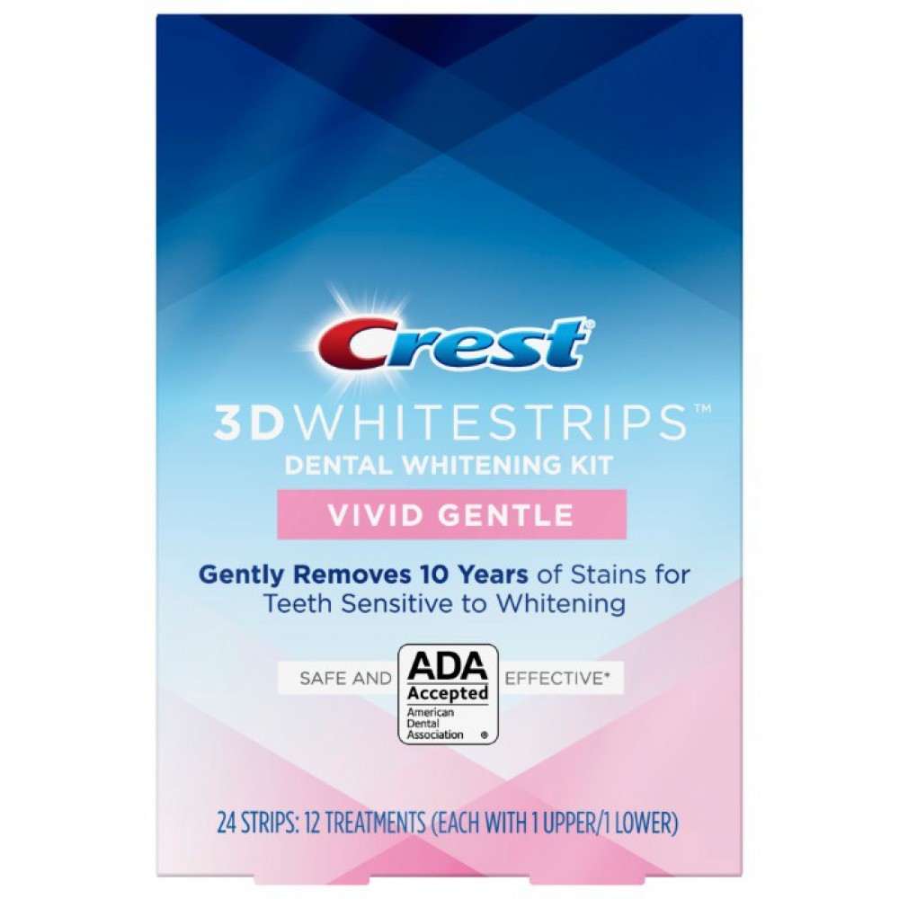 Crest отбеливающие полоски 3D Whitestrips Vivid Gentle