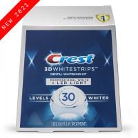 Комплекс Crest 3D WhitestripsDental Whitening Kit Professional White + Led Light (19 days) - отбеливающие полоски с портативным светодиодным устройством